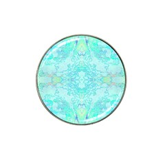 Green Tie Dye Kaleidoscope Opaque Color Hat Clip Ball Marker by Mariart