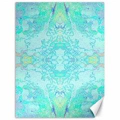 Green Tie Dye Kaleidoscope Opaque Color Canvas 18  X 24   by Mariart