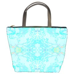 Green Tie Dye Kaleidoscope Opaque Color Bucket Bags by Mariart
