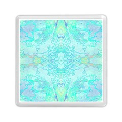 Green Tie Dye Kaleidoscope Opaque Color Memory Card Reader (square)  by Mariart