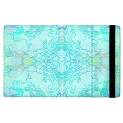 Green Tie Dye Kaleidoscope Opaque Color Apple Ipad 3/4 Flip Case by Mariart