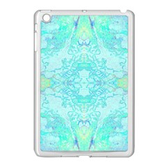 Green Tie Dye Kaleidoscope Opaque Color Apple Ipad Mini Case (white) by Mariart