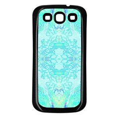 Green Tie Dye Kaleidoscope Opaque Color Samsung Galaxy S3 Back Case (black) by Mariart