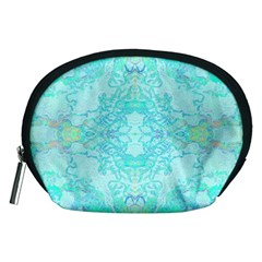 Green Tie Dye Kaleidoscope Opaque Color Accessory Pouches (medium)  by Mariart