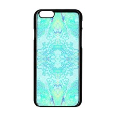Green Tie Dye Kaleidoscope Opaque Color Apple Iphone 6/6s Black Enamel Case by Mariart