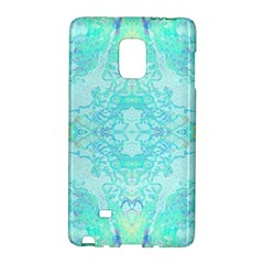 Green Tie Dye Kaleidoscope Opaque Color Galaxy Note Edge by Mariart
