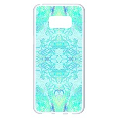 Green Tie Dye Kaleidoscope Opaque Color Samsung Galaxy S8 Plus White Seamless Case