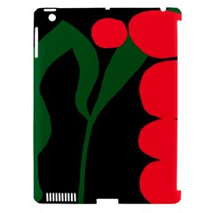 Illustrators Portraits Plants Green Red Polka Dots Apple Ipad 3/4 Hardshell Case (compatible With Smart Cover) by Mariart