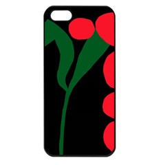 Illustrators Portraits Plants Green Red Polka Dots Apple Iphone 5 Seamless Case (black) by Mariart