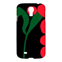 Illustrators Portraits Plants Green Red Polka Dots Samsung Galaxy S4 I9500/i9505 Hardshell Case by Mariart