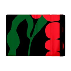 Illustrators Portraits Plants Green Red Polka Dots Ipad Mini 2 Flip Cases by Mariart