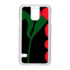 Illustrators Portraits Plants Green Red Polka Dots Samsung Galaxy S5 Case (white) by Mariart