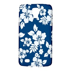 Hibiscus Flowers Seamless Blue White Hawaiian Galaxy S4 Active by Mariart
