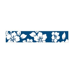 Hibiscus Flowers Seamless Blue White Hawaiian Flano Scarf (mini) by Mariart