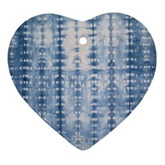 Indigo Grey Tie Dye Kaleidoscope Opaque Color Heart Ornament (two Sides) by Mariart