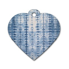 Indigo Grey Tie Dye Kaleidoscope Opaque Color Dog Tag Heart (two Sides) by Mariart