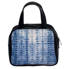 Indigo Grey Tie Dye Kaleidoscope Opaque Color Classic Handbags (2 Sides) by Mariart