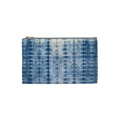 Indigo Grey Tie Dye Kaleidoscope Opaque Color Cosmetic Bag (small)  by Mariart