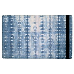 Indigo Grey Tie Dye Kaleidoscope Opaque Color Apple Ipad 3/4 Flip Case by Mariart