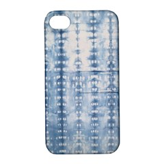 Indigo Grey Tie Dye Kaleidoscope Opaque Color Apple Iphone 4/4s Hardshell Case With Stand by Mariart