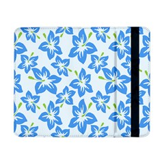 Hibiscus Flowers Seamless Blue Samsung Galaxy Tab Pro 8 4  Flip Case by Mariart