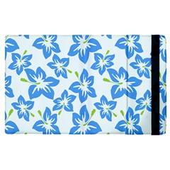 Hibiscus Flowers Seamless Blue Apple Ipad Pro 12 9   Flip Case by Mariart