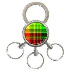 Line Light Neon Red Green 3 Ring Key Chains