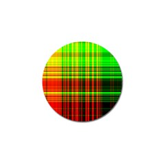 Line Light Neon Red Green Golf Ball Marker (10 Pack) by Mariart