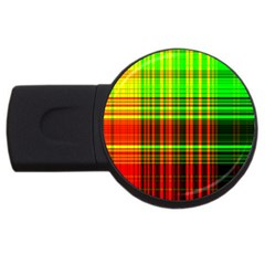 Line Light Neon Red Green Usb Flash Drive Round (2 Gb) by Mariart