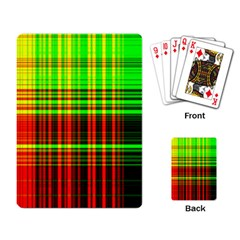Line Light Neon Red Green Playing Card by Mariart