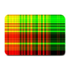Line Light Neon Red Green Plate Mats by Mariart