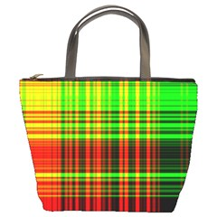 Line Light Neon Red Green Bucket Bags by Mariart