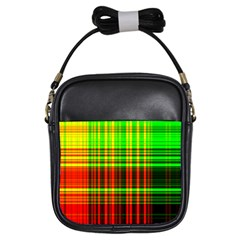 Line Light Neon Red Green Girls Sling Bags by Mariart