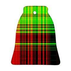 Line Light Neon Red Green Bell Ornament (two Sides)