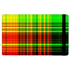 Line Light Neon Red Green Apple Ipad 3/4 Flip Case by Mariart