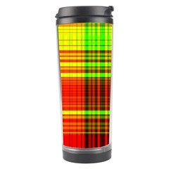 Line Light Neon Red Green Travel Tumbler by Mariart