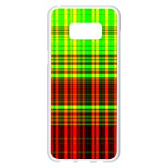 Line Light Neon Red Green Samsung Galaxy S8 Plus White Seamless Case