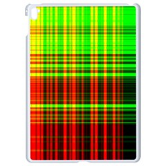 Line Light Neon Red Green Apple Ipad Pro 9 7   White Seamless Case by Mariart