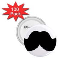 Mustache Owl Hair Black Man 1 75  Buttons (100 Pack)  by Mariart