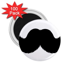 Mustache Owl Hair Black Man 2 25  Magnets (100 Pack)  by Mariart
