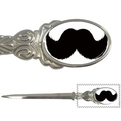 Mustache Owl Hair Black Man Letter Openers by Mariart