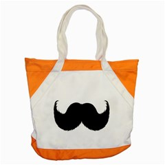 Mustache Owl Hair Black Man Accent Tote Bag by Mariart