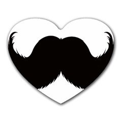 Mustache Owl Hair Black Man Heart Mousepads by Mariart