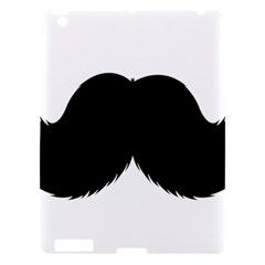 Mustache Owl Hair Black Man Apple Ipad 3/4 Hardshell Case by Mariart