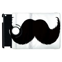 Mustache Owl Hair Black Man Apple Ipad 3/4 Flip 360 Case by Mariart