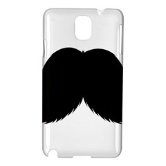 Mustache Owl Hair Black Man Samsung Galaxy Note 3 N9005 Hardshell Case by Mariart