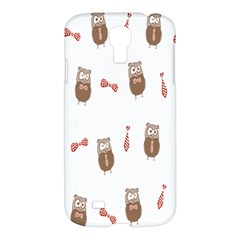 Insulated Owl Tie Bow Scattered Bird Samsung Galaxy S4 I9500/i9505 Hardshell Case by Mariart