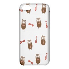 Insulated Owl Tie Bow Scattered Bird Apple Iphone 5c Hardshell Case by Mariart