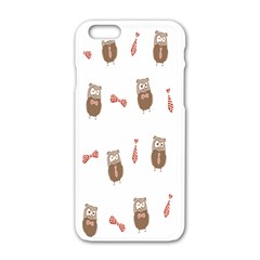 Insulated Owl Tie Bow Scattered Bird Apple Iphone 6/6s White Enamel Case by Mariart