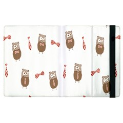 Insulated Owl Tie Bow Scattered Bird Apple Ipad Pro 12 9   Flip Case by Mariart